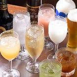 日頃日本酒に馴染みの無い方にも嬉しい『日本酒カクテル』も多数ご用意!