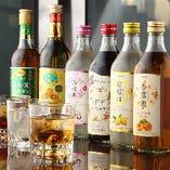 豊富な中国果実酒!ロック、またはソーダ割りでお飲みいただけます。