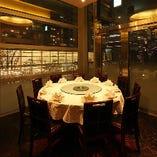歓送迎会に!夜景が見える円卓個室(5~10名様まで)。※6,000円(税込)~コースをご予約いただいた場合になります。