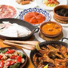彩り豊かな本格スペイン料理が魅力