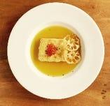 真鯛とレンコンの焼きリゾット スープ仕立て