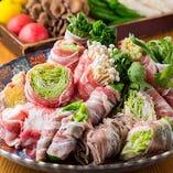 中々名物の肉巻き野菜!!旬の素材を楽しんで下さい!