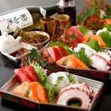 築地直送のお刺身【日本全国の漁場から獲れた新鮮な魚】