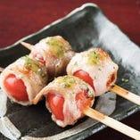 ニラの豚バラ巻/プチトマトの豚バラ巻