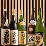 地酒・焼酎の品揃えも抜群!日本酒と相性抜群の逸品と一緒に!