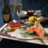 シーズンイベントには特別な懐石料理をお愉しみください。