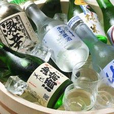 日本酒を初めとした豊富な品揃え