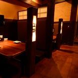 様々な空間をご用意しておりますので、お客様のお好きな個室をご指定下さい。