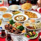 本格トルコ料理コースは3,240円~☆ 世界三大料理を是非♪