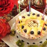 自家製の誕生日ケーキ