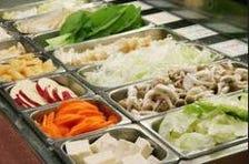 新鮮野菜と鍋具材のビュッフェ☆