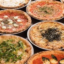 【3時間食べ飲み放題付】月~木限定 窯焼PIZZA食べ放題〈全9品〉各種宴会、女子会、同窓会にも