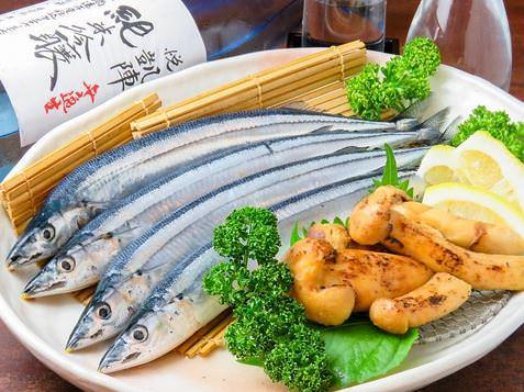 朝市の新鮮な瀬戸内魚介 を使用したコース料理