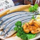 毎日新鮮な魚を仕入れています。