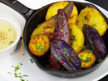 季節の色々ポテトのオーブン焼き ゴルゴンゾーラクリームソース