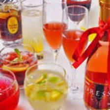 種類豊富な飲み放題や宴会オプション