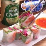 生春巻を中心としたタイ料理やベトナム料理まで!