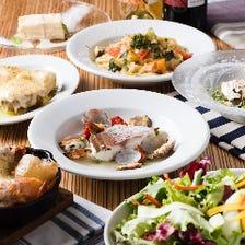 【2,5時間飲み放題付き】一番人気特製バーニャカウダと真鯛のアクアパッツァが入ったLa ZAPPAのお魚コース