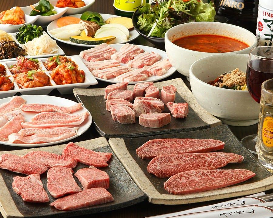 きめ細やかな肉質が自慢! 2時間食べ放題コースは2,780円~