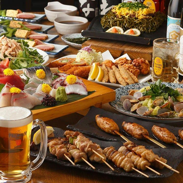 『樽平』をたっぷり堪能するなら全6種のご宴会コースがオススメ