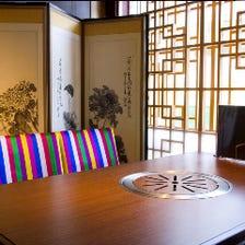 テーブル席、お座敷席、個室も完備