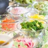 新鮮な野菜をたっぷりとお楽しみください
