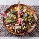 平政の冷薫 色々な野菜とカルパッチョ仕立て