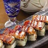 穴子や天然小鯛の箱寿司を〆に