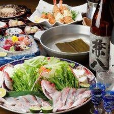 長崎対馬【のどぐろ紅瞳】をしゃぶしゃぶで!食感もっちり、驚きの旨み|飲み放題付 のどぐろ宴会