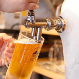 とにかくまずは生ビールで乾杯!