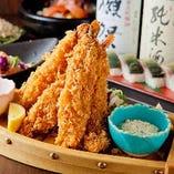 海老フライや牡蠣フライなど、一見普通に見える居酒屋メニューも、一度食べていただければその素材の違いを分かっていただけると思います!