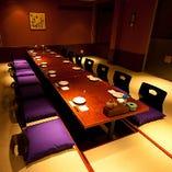 【7階】最大14名様VIP個室  掘り炬燵形式・・・大切な時にご利用ください♪通常より間取りが広く設計されていますので、各種お集まりや会合、法事等に最適なお部屋です♪