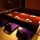 【7階】最大14名様VIP個室  掘り炬燵形式・・・6名様側の様子♪