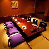 【7階】最大14名様VIP個室  掘り炬燵形式・・・8名様側の様子♪
