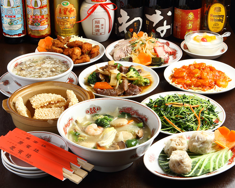 あわび、フカヒレ、北京ダックで宴会