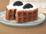 チョコミントワッフルケーキ
