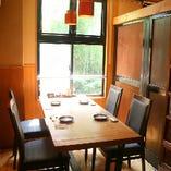テーブル席は 個室・半個室がございます