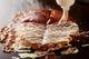 ふんわり焼いたお好み焼に特製ソースと マヨネーズ最高です。