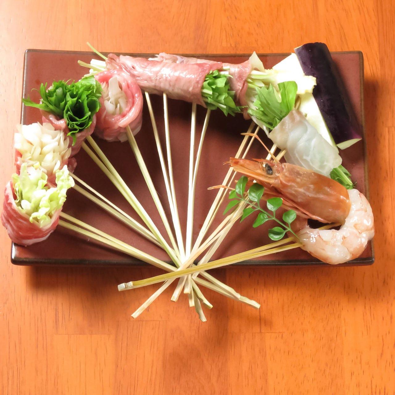 こだわりの新鮮食材を串しゃぶで♪