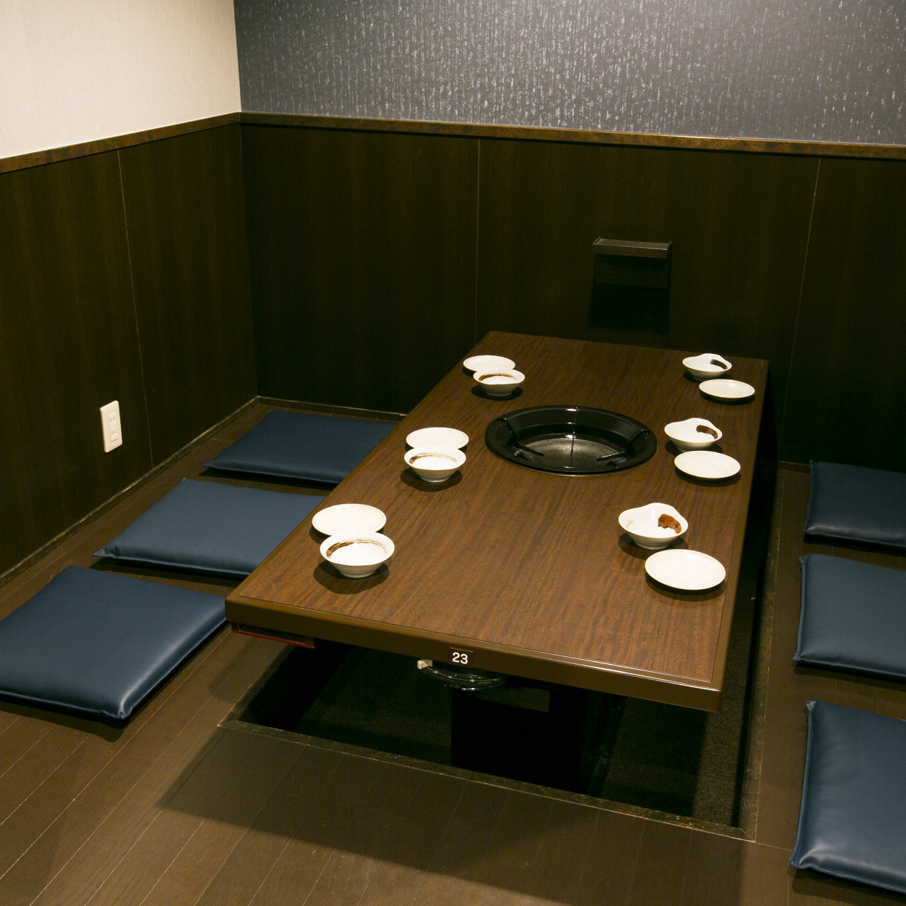 人数に合わせて選べる個室を完備!