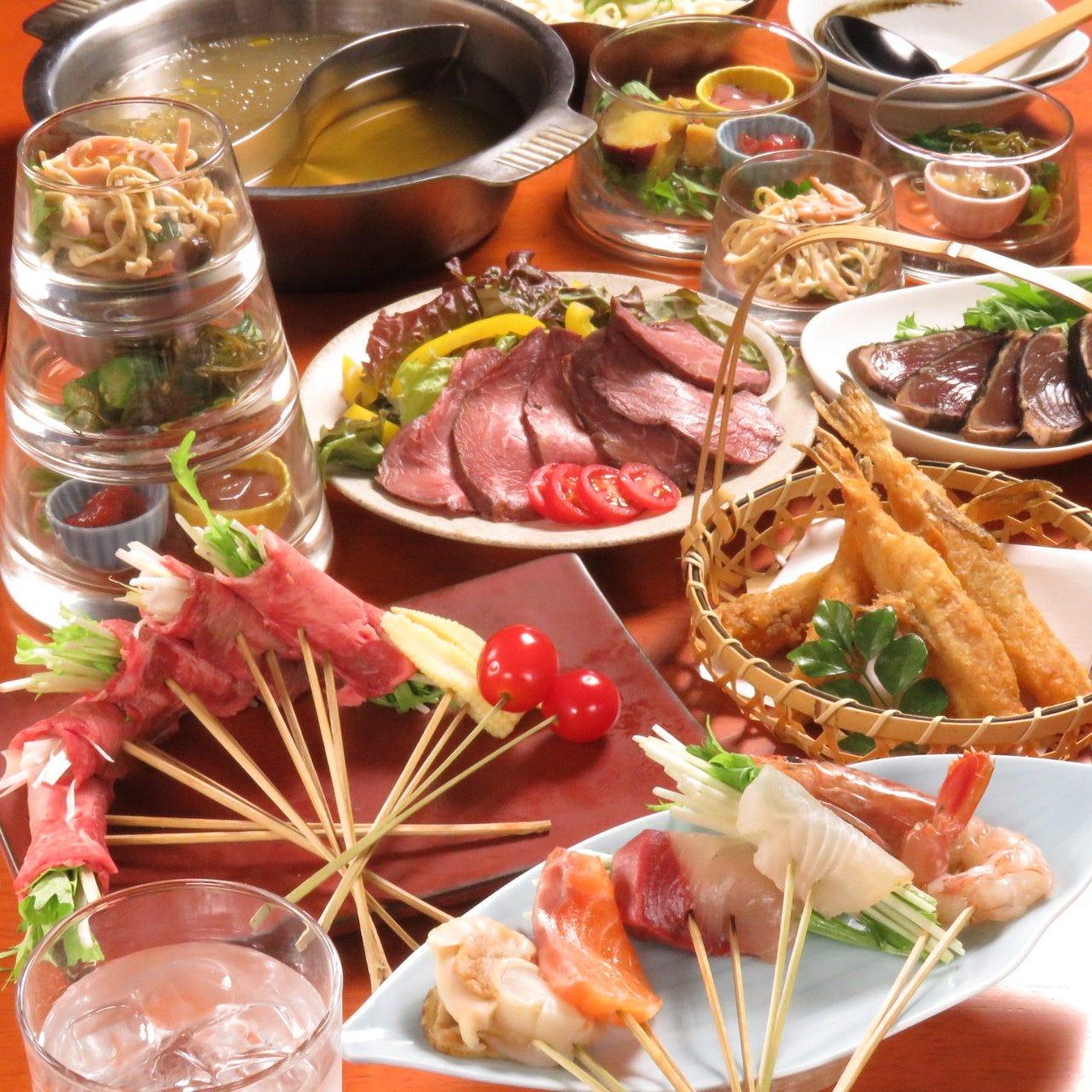 充実した内容のコース料理/4000円~