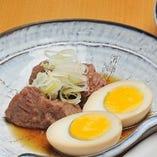 牛ほほ肉(玉子付き)