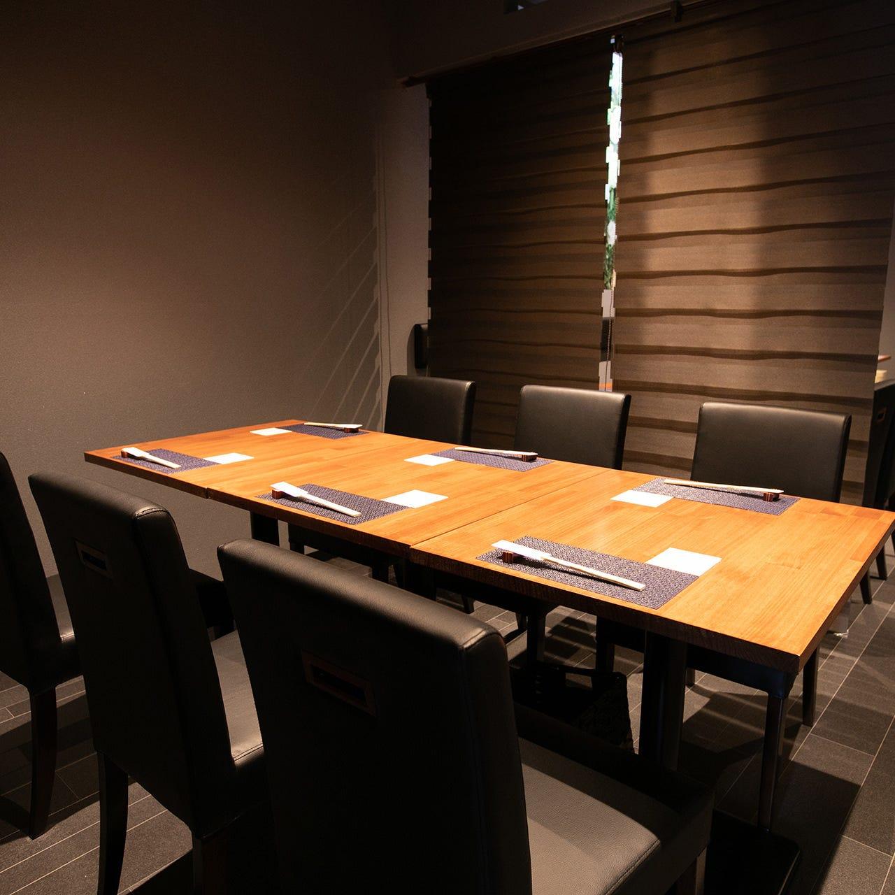 6名様程度で半個室風空間としてご利用いただけるお席も