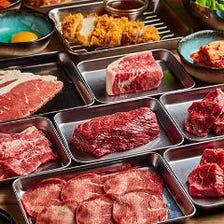 【110分食べ放題】人気No.1!ステーキやカルビ、逸品料理も充実◎『焼肉食べ放題コース』《全120品》