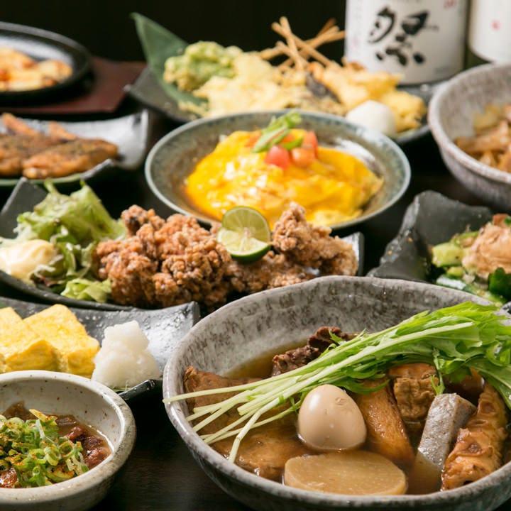 【迷ったらコレ!!】1番人気★90分飲み放題+料理16品!手羽先、串天ぷらなど『人気メニュー満足コース』
