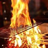 こだわりの旬の食材を炉端にて提供します。