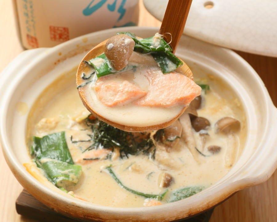 豆乳と生クリームの濃厚スープ