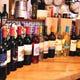 ワインはシチリアワインを中心に取り揃えています。グラス600円
