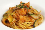 テイクアウトパスタ エビと季節野菜のスパゲッティ