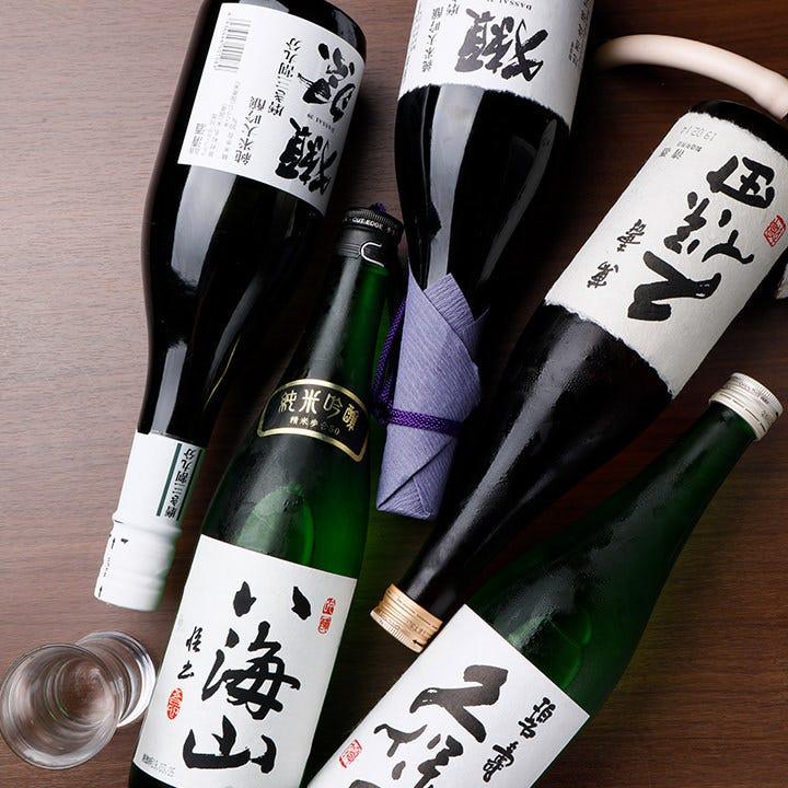 八海山・久保田萬壽・碧壽・獺祭5種